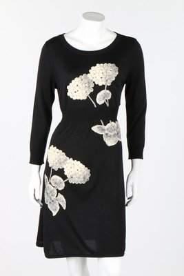 Three Chanel black knitted dresses, circa 2000, all