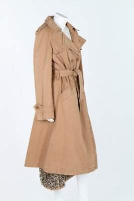 A Chanel beige cotton trench coat with detachable