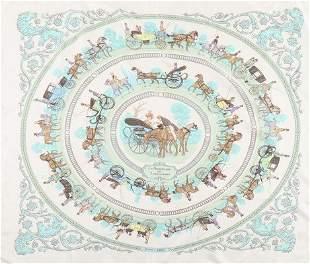Five Hermes scarves, comprising: 'La Promenade de