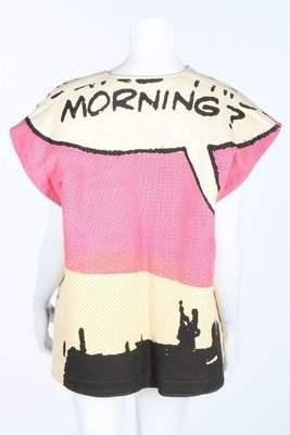 Elisabeth de Senneville 'Morning?' printed cotton and