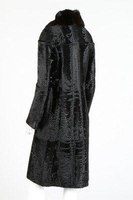 A Fendi black broadtail fur coat, modern, labelled - 3
