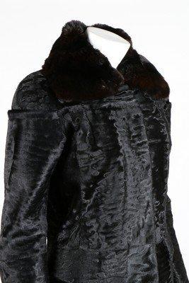A Fendi black broadtail fur coat, modern, labelled - 4