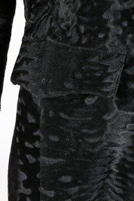 A Fendi black broadtail fur coat, modern, labelled - 5
