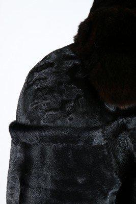 A Fendi black broadtail fur coat, modern, labelled - 6