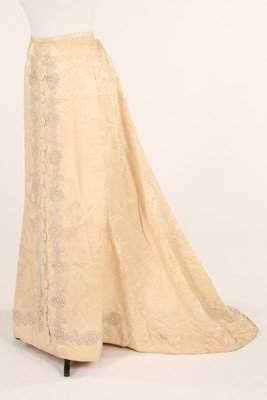 A fine embroidered and pearl beaded skirt and stomacher