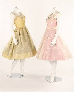 Four Sylvia Mansell bridal/prom gowns, mid-late 1950s,