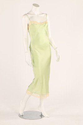An early Stella McCartney pale green silk bias-cut
