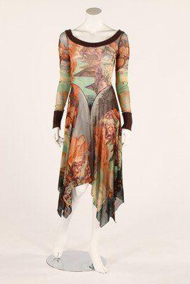 A Jean Paul Gaultier 'Birth of Venus' printed jersey