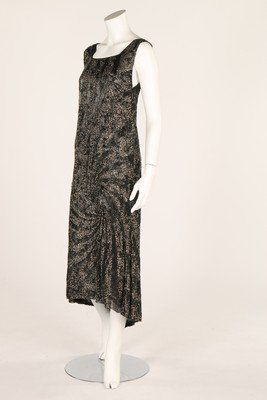 A good beaded and sequined tulle dress, early to mid