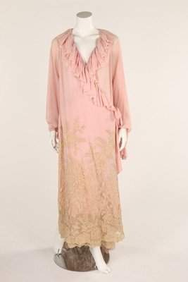 A group 1930s lingerie and nightwear, including a pink