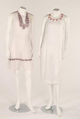 Three summer dresses, late 1920s- early 1930s, one with