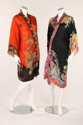 Four kimonos, late 1920s-early 1930s, including silk
