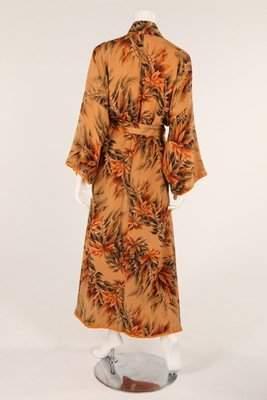 Three kimonos, 1930s, one full length, printed with