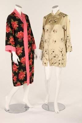 A group of night wear, dating from the 1930s, including