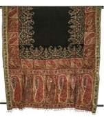 A woven kashmir shawl, circa 1830-40, the black wool
