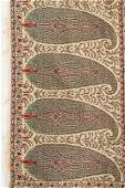 Two woven woollen Norwich shawls circa 1820, both with