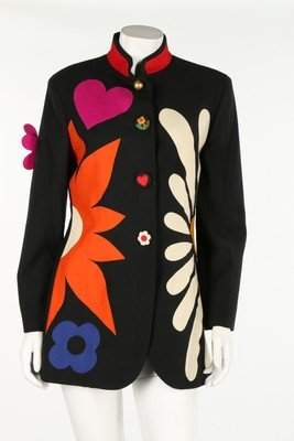 A Moschino 'Flower Power' jacket, 1990s. with Cheap &