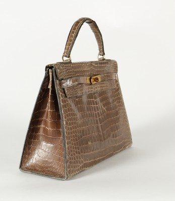 An Hermès grey crocodile Kelly bag, circa 1965, - 2