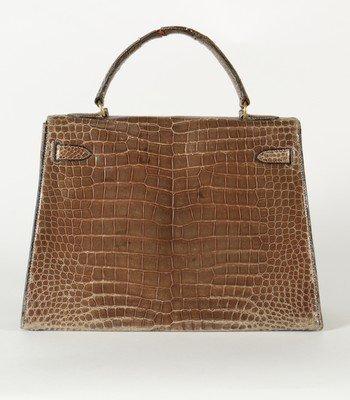 An Hermès grey crocodile Kelly bag, circa 1965, - 3