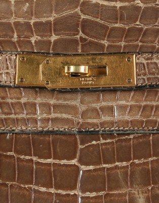 An Hermès grey crocodile Kelly bag, circa 1965, - 4