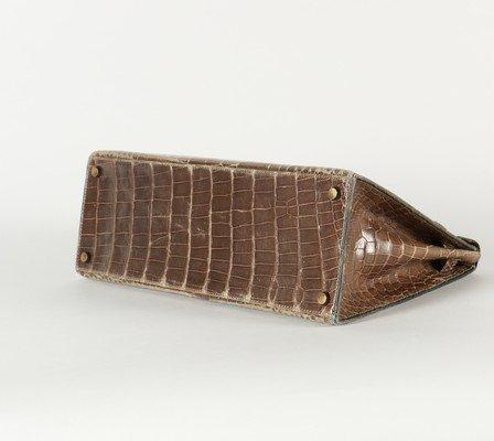 An Hermès grey crocodile Kelly bag, circa 1965, - 6