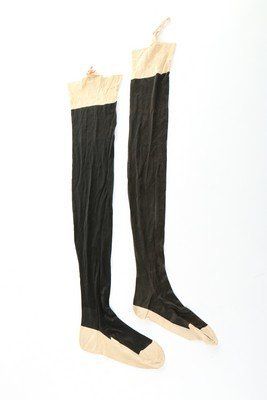Two pairs of Queen Victoria's black silk stockings and