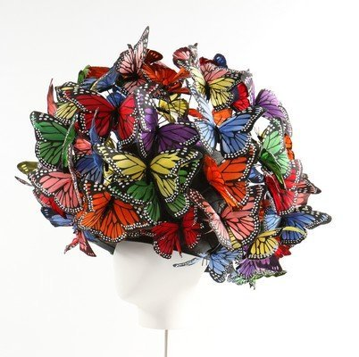 A Philip Treacy painted feather 'butterfly' hat, 2003, - 2