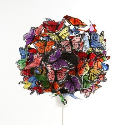 A Philip Treacy painted feather 'butterfly' hat, 2003, - 3
