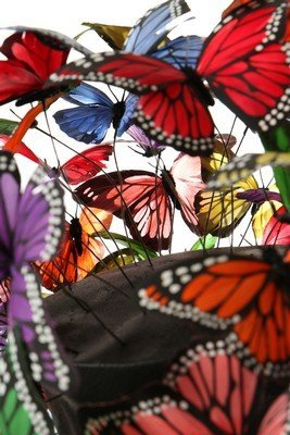 A Philip Treacy painted feather 'butterfly' hat, 2003, - 4