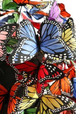 A Philip Treacy painted feather 'butterfly' hat, 2003, - 6