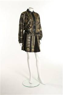 A fine Gianni Versace Atelier studded leather gladiator