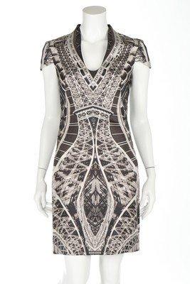 48180e5bb7a85 An Alexander McQueen Eiffel Tower print cocktail dress, - Jun 23 ...