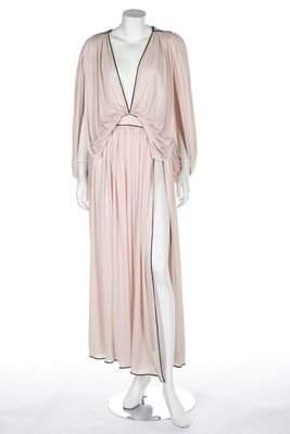 A Bill Gibb pale pink Quiana jersey gown, probably