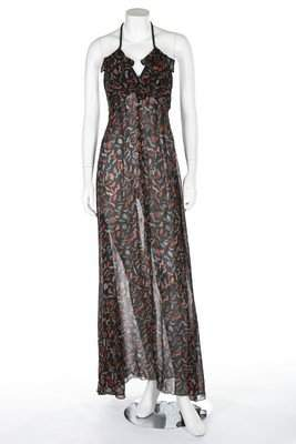 An Ossie Clark/Celia Birtwell printed halterneck dress,