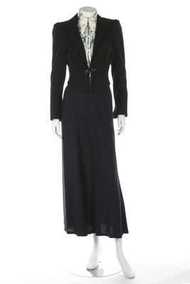 An Ossie Clark cropped black wool gabardine jacket,