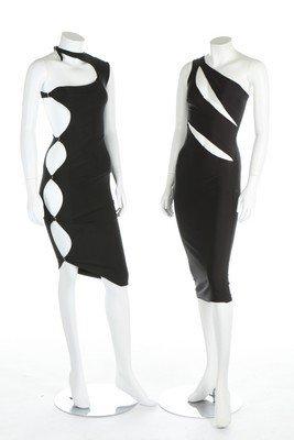 Three Swanky Modes stretch lycra disco/club dresses,