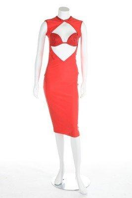 Three Swanky Modes stretch lycra disco/club dresses, - 2