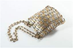 A Paco Rabanne chainmail handbag 1960s unlabelled
