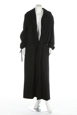 A Yohji Yamamoto black wool coat, 1990s, labelled, with