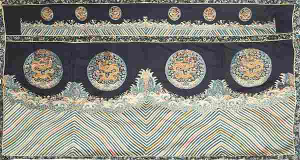 A fine embroidered satin altar frontal, probably made