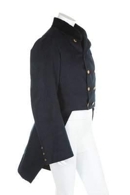 A gentleman's navy facecloth tailcoat, American, circa
