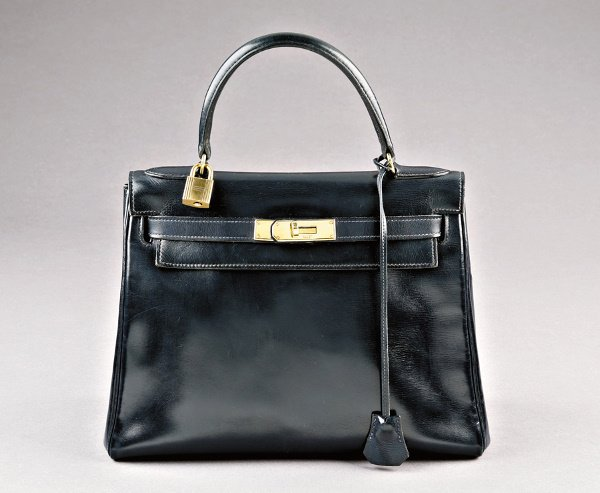 6: An Hermès navy leather soft Kelly bag, 1960s, one cl