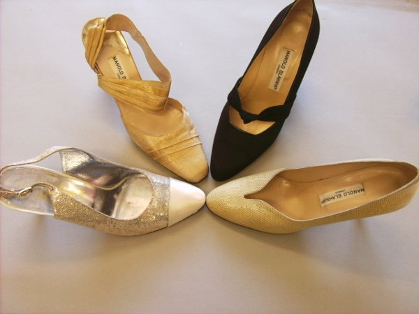 8: Four pairs of Manolo Blahnik shoes