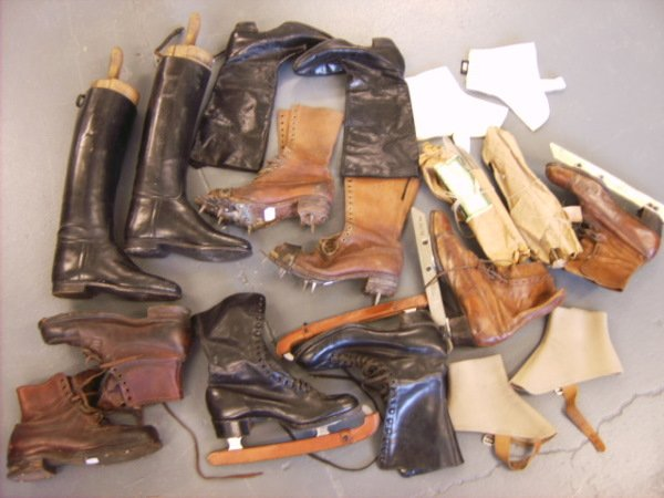 15: A group of sporting footwear, 1920s-30s, including