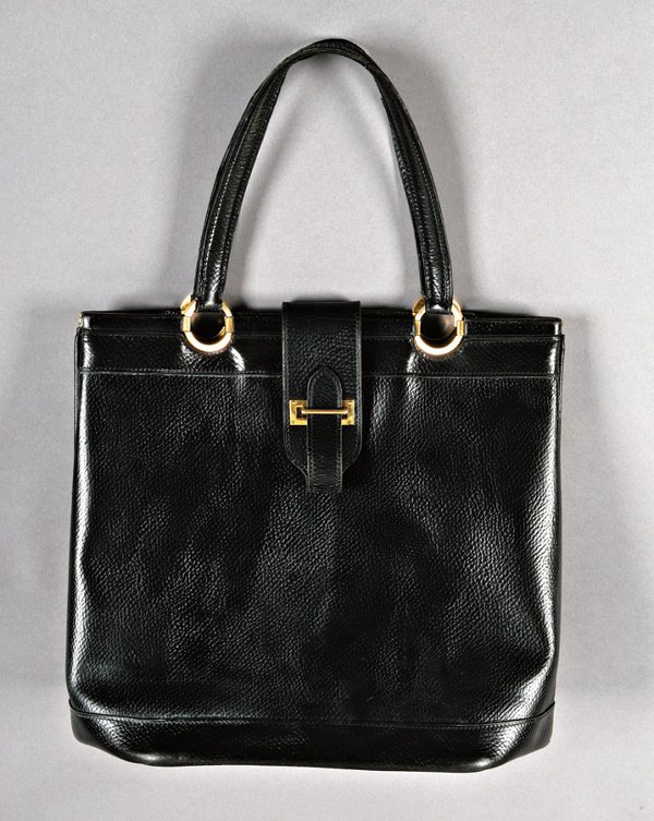 30: An Hermès grained black leather `Berry' bag, 1960s,