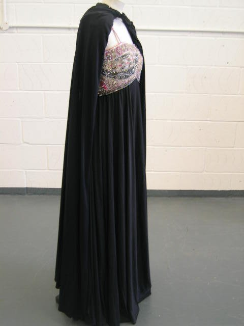 110: A Pucci evening gown and Loris Azzaro cape, late 1 - 6