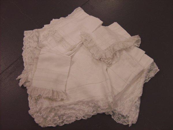 222: Queen Marie of Rumania's bed linen, circa 1893, co