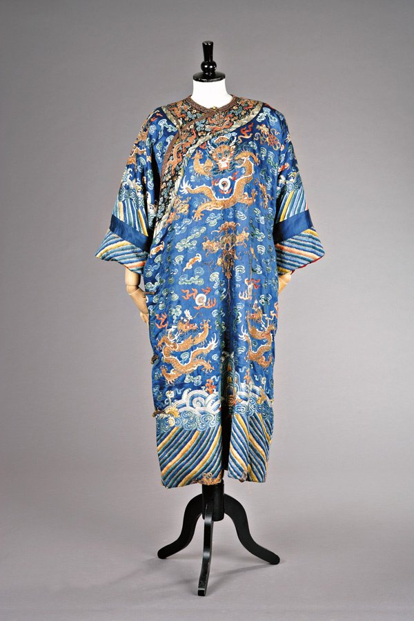 234: An embroidered formal robe, chi-fu, Chinese mid 19