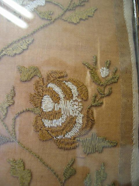 257: A fine and rare embroidered 'shorthand' sampler by - 8