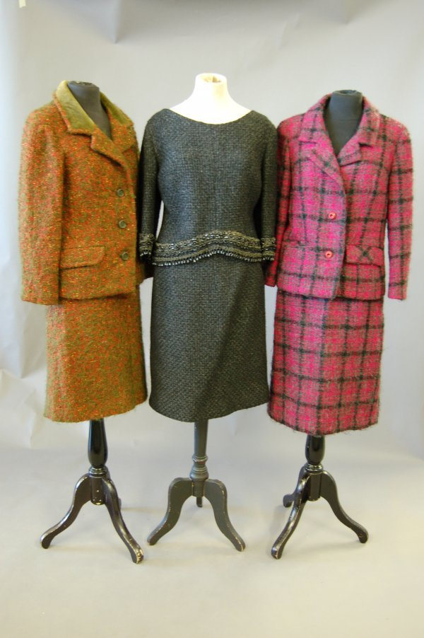 1011: A group of suits, jackets and coats, mainly 1960s